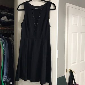 Black, sleeveless dress from Express. Size M.